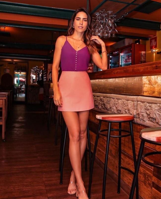 Shorts Saia em Cotton com Bolso Faca nas Laterais Donna Ritz