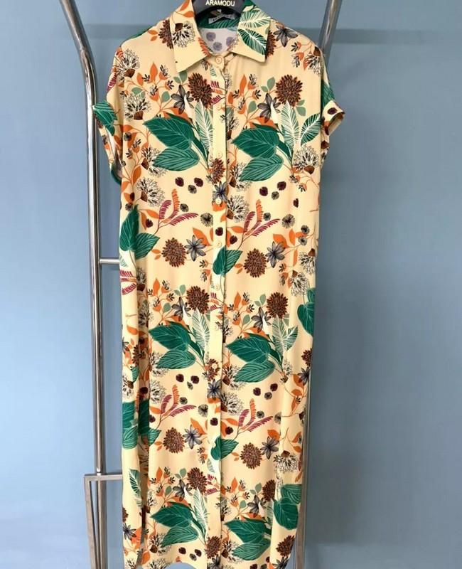 Vestido Chemise Estampado em Viscose Aramodu