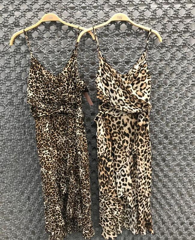 Vestido Curto Animal Print Com Faixa Para Amarracao Donna Ritz