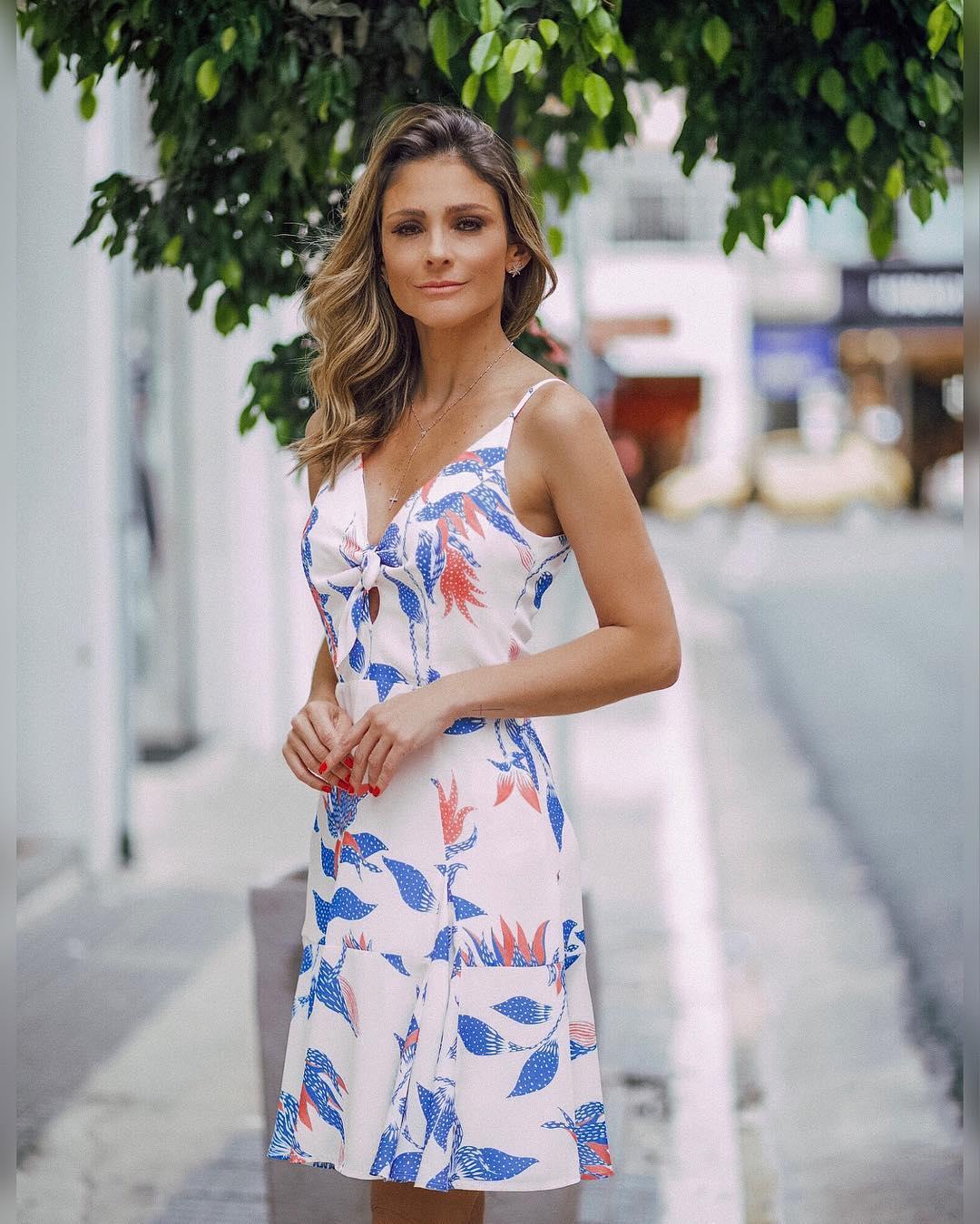 4844785ad Vestido Decote Laco Floral Donna Ritz | Loja de Roupas Femininas ...