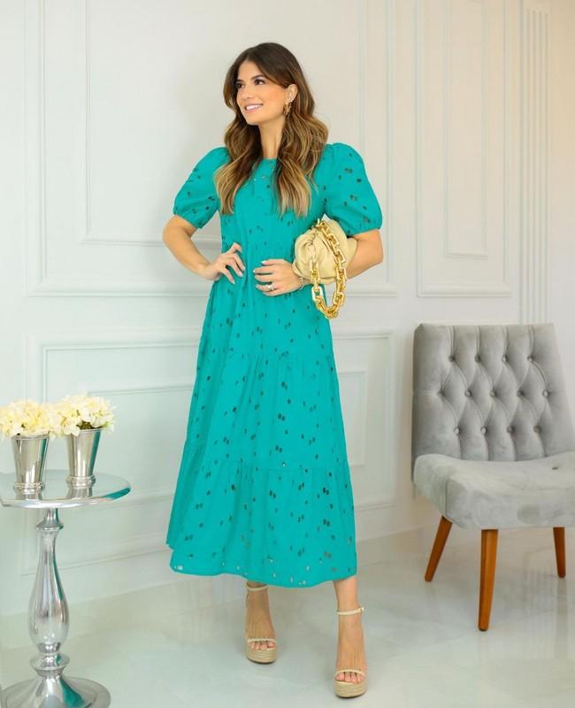 Vestido em Laise com Marias Milalai