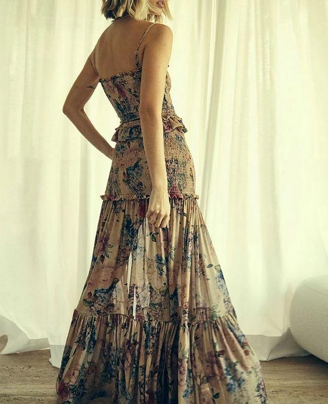 Vestido Longo de Tule Floral Hortencia Jo Concept