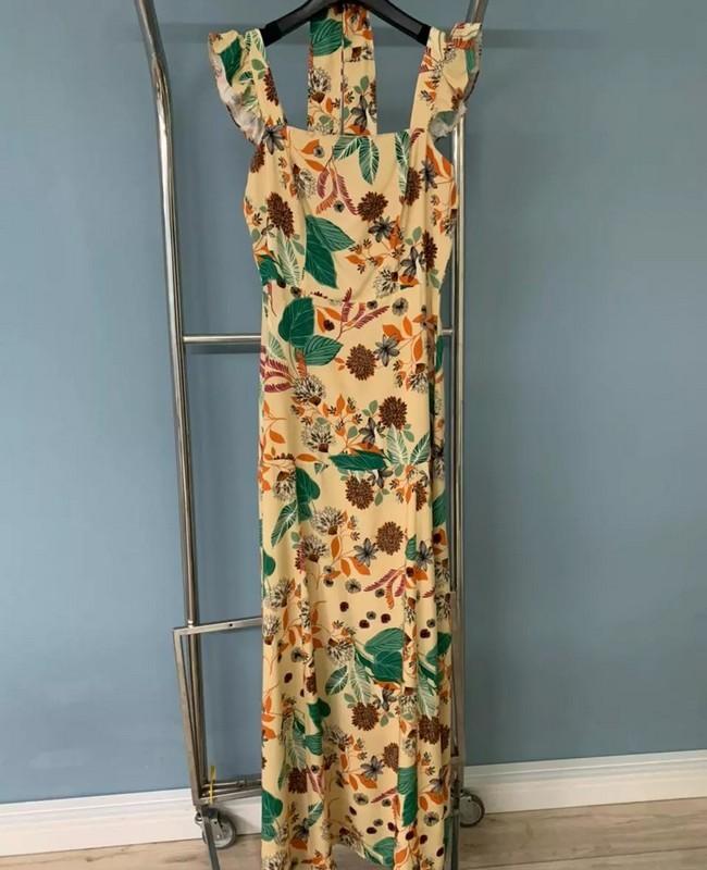 Vestido Longo Estampado em Viscose Aramodu