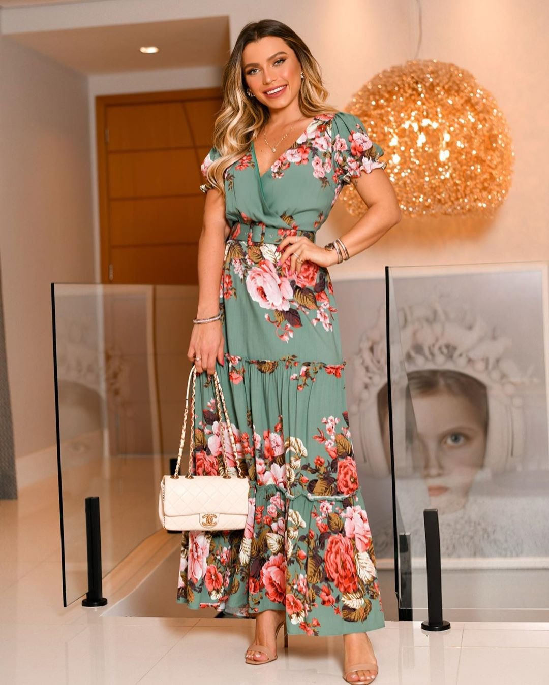 Vestido Longo Floral Milalai em Viscose