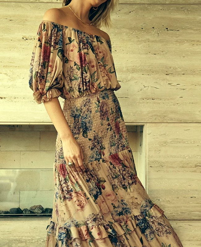 Vestido Midi Tule Floral Hortencia Jo Concept