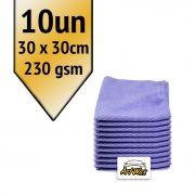 Akora Flanela de Microfibra Roxo 30x30 - 230gsm Kit 10un