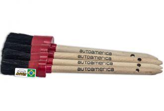 Autoamerica Kit de Pinceis Detailing Borda Plastica 4un