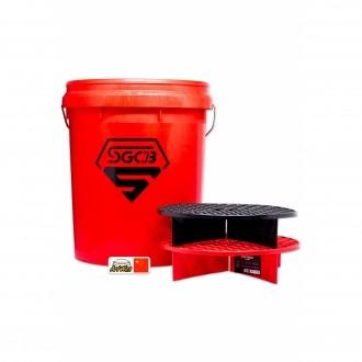Balde Vermelho Para Lavagem com Filtro de Partículas SGCB