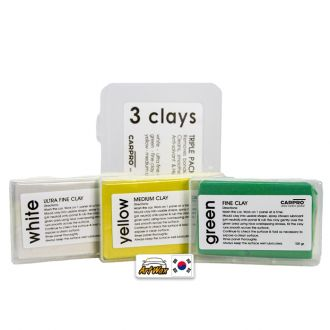 Carpro Kit Clay Bar 03un - 100g cada