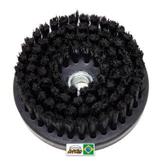 Escova de Estofados Spin Media Preto 120mm For Detail - Rosca 5/8
