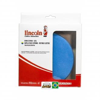 """Lincoln Boina Dupla Face Espuma Azul 6"""" 125mm Refino/Lustro"""
