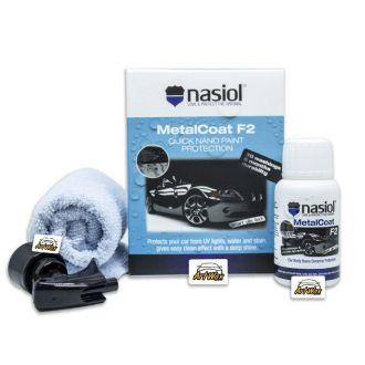 NASIOL MetalCoat F2 – Nanoproteção para Pintura, Metais, Plásticos e Lanternas. - 50ml