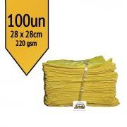 Pano de Microfibra Mandala Amarelo 28x28cm - 100un - 220gsm