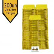 Pano de Microfibra Mandala Amarelo 28x28cm - 200un - 230gsm