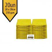Pano de Microfibra Mandala Amarelo 28x28cm - 20un - 230gsm
