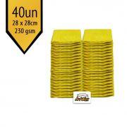 Pano de Microfibra Mandala Amarelo 28x28cm - 40un - 230gsm