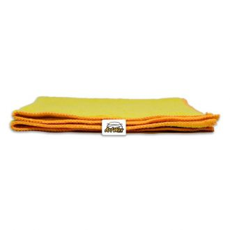 Pano de Microfibra Mandala Amarelo 37x37cm - 300gsm (Monotextura)