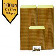 Pano de Microfibra Mandala Amarelo 37x57cm - 100un - 300gsm