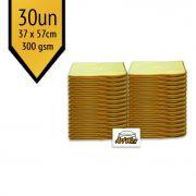 Pano de Microfibra Mandala Amarelo 37x57cm - 30un - 300gsm