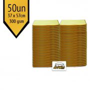 Pano de Microfibra Mandala Amarelo 37x57cm - 50un - 300gsm