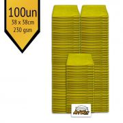 Pano de Microfibra Mandala Amarelo 38x38cm - 100un - 230gsm