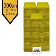 Pano de Microfibra Mandala Amarelo 38x38cm - 200un - 230gsm