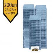 Pano de Microfibra Mandala Azul 28x28cm - 200un - 230gsm