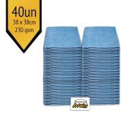 Pano de Microfibra Mandala Azul 38x38cm - 40un - 230gsm