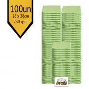 Pano de Microfibra Mandala Verde 28x28cm - 100un - 230gsm