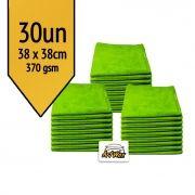 Pano de Microfibra Mandala Verde 38x38 - 370gsm Kit 30un
