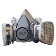 Respirador 3M série 6000 - 2 filtros - completo