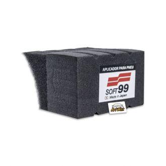 Soft99 Tire Wax Sponge - Esponja Aplicadora Para Pneus