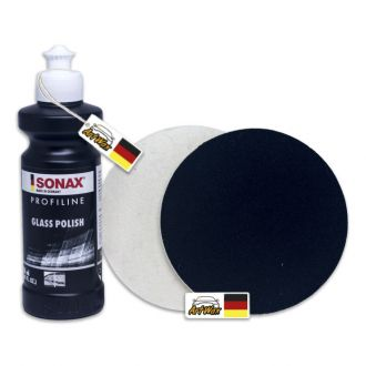 Sonax Glass Polish - Polidor de Vidros 250ml + 2 Boinas de Feltro 151mm