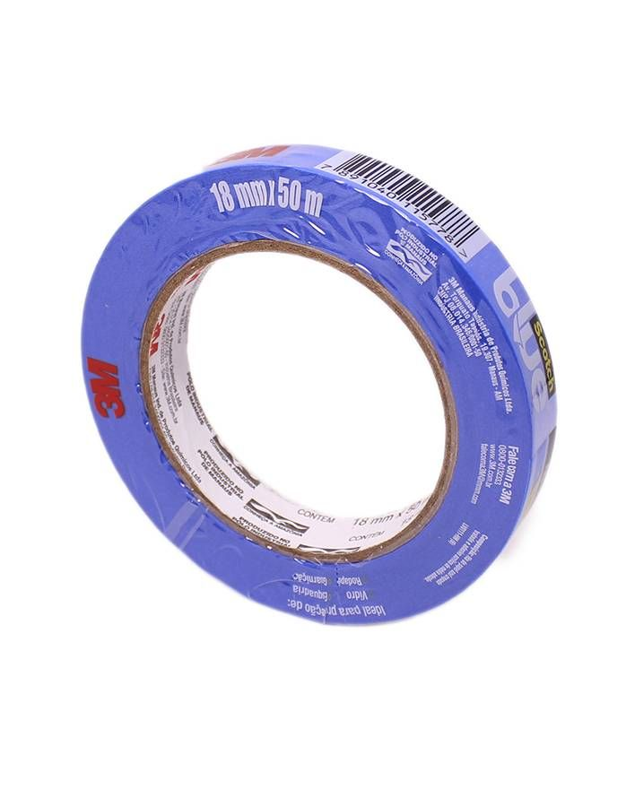 3M Fita Crepe Automotiva Blue Tape Scotch 2090 - 18mm x 50m