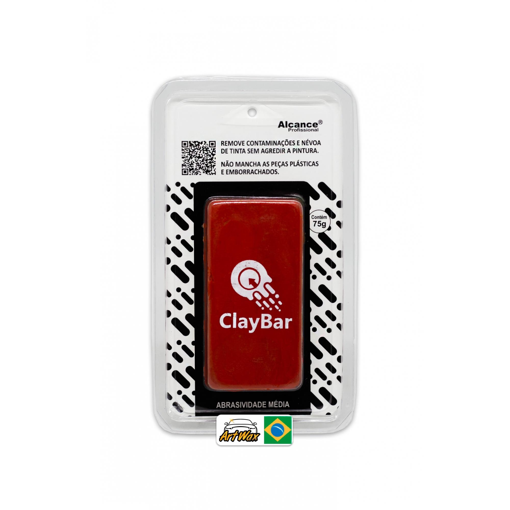 Alcance Claybar Média 75gr - Barra Descontaminante de Pintura