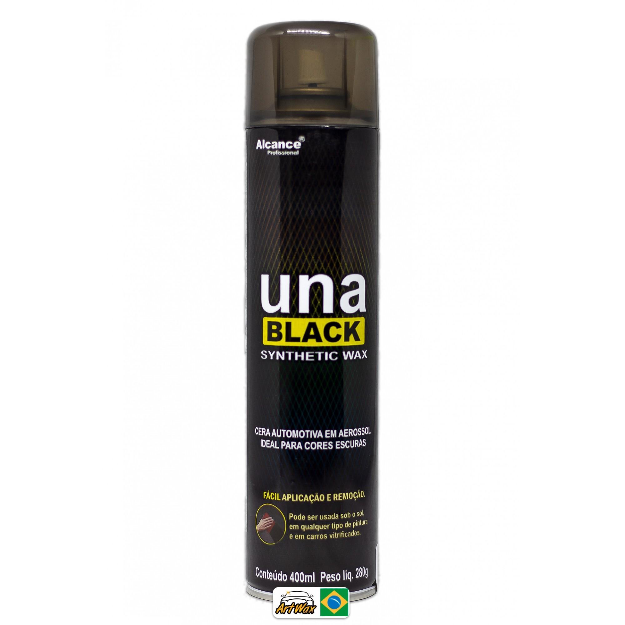 Alcance Una Black Synthetic Wax Aerossol 400ml - Cera Protetora Para Pinturas Escuras