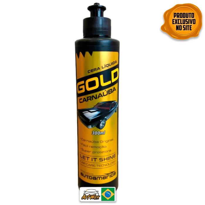 Autoamerica Gold 300ml - Cera Liquida de Carnaúba Super Protetora