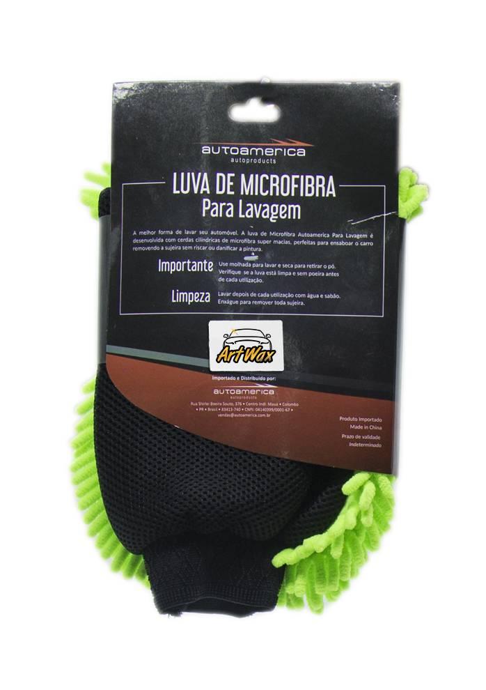 Autoamerica Luva de Microfibra Para Lavagem 24x25.5cm