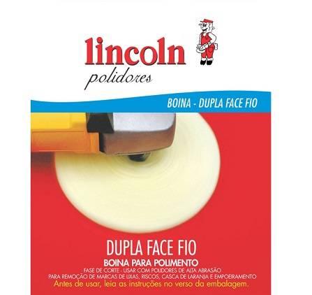 """Boina Dupla Face Fio Flexível 8"""" Branca 320164 Lincoln"""