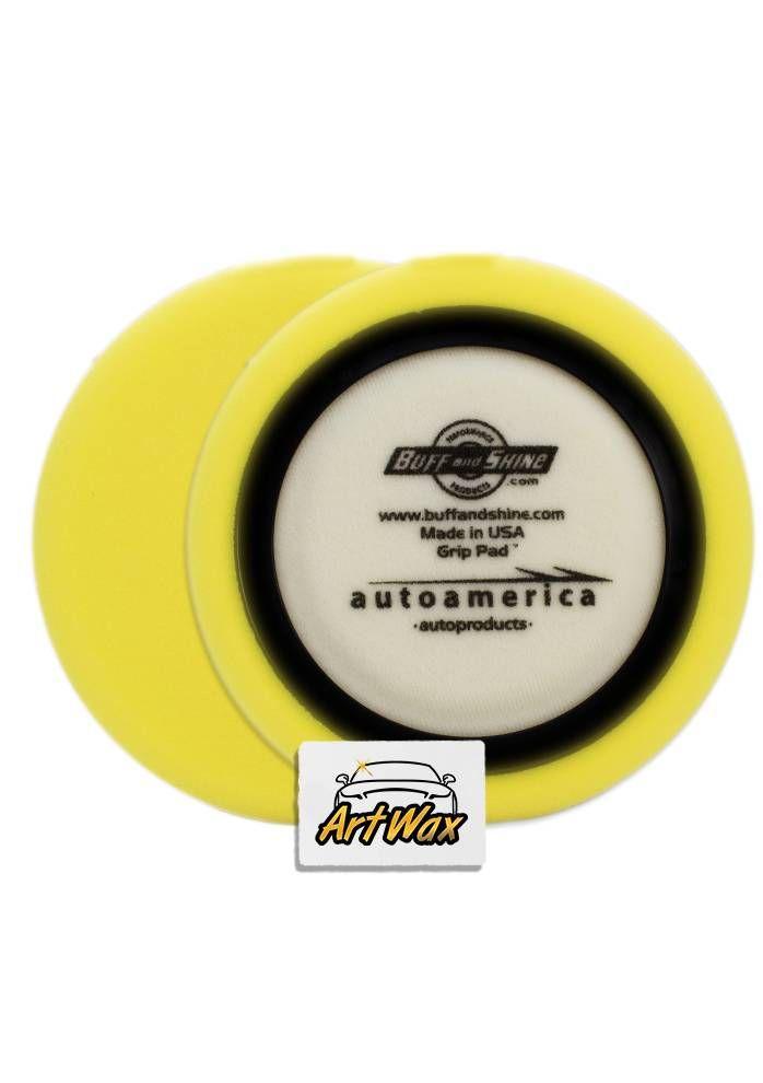 Buff and Shine Boina de espuma Amarela 7,5 c/ Anel centralizador