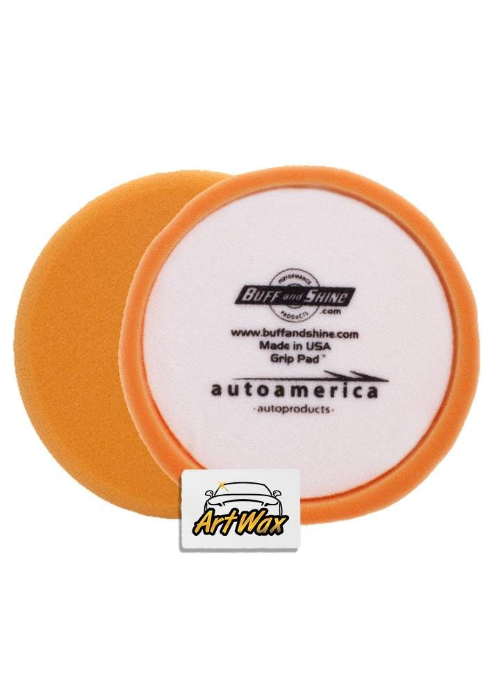 "Buff and Shine Boina Espuma Laranja sem anel central 7,5"" - Corte/Refino"