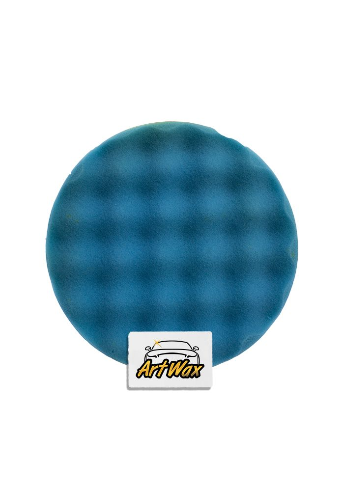 Buff and Shine Boina Espuma Super Macia Waffle Azul 7.5´´