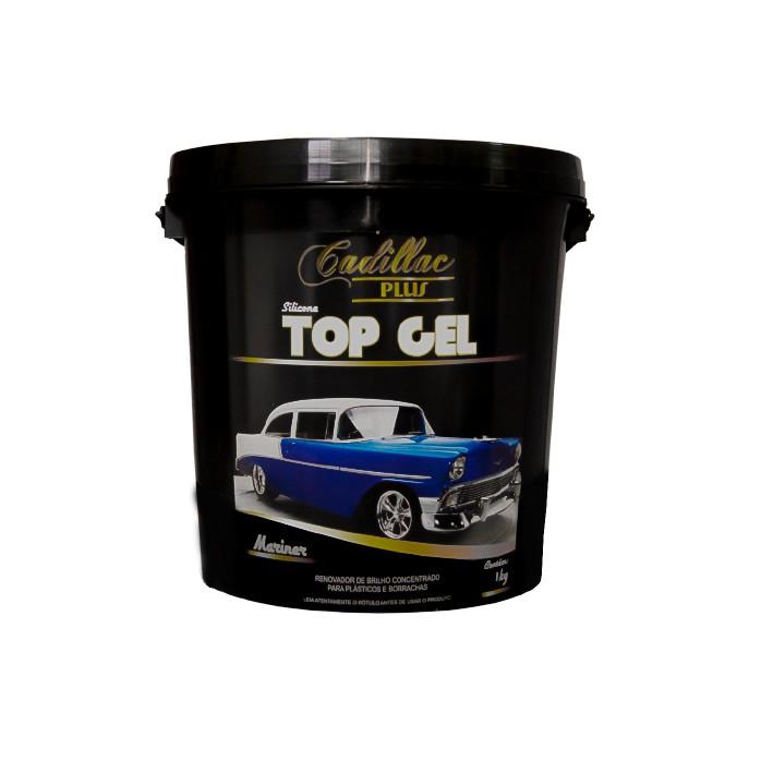 Cadillac Silicone Top Gel 1kg - Renovador Plásticos e Borrachas
