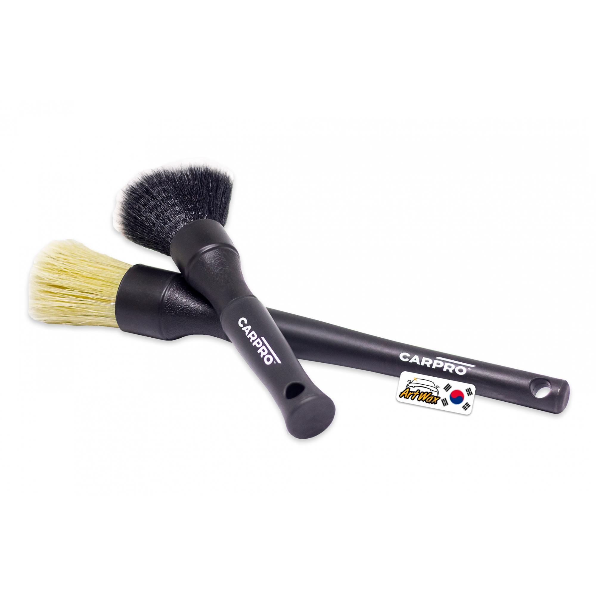 Carpro Detailing Brush 2un - Cerda Natural de Javali e Nylon Sintético