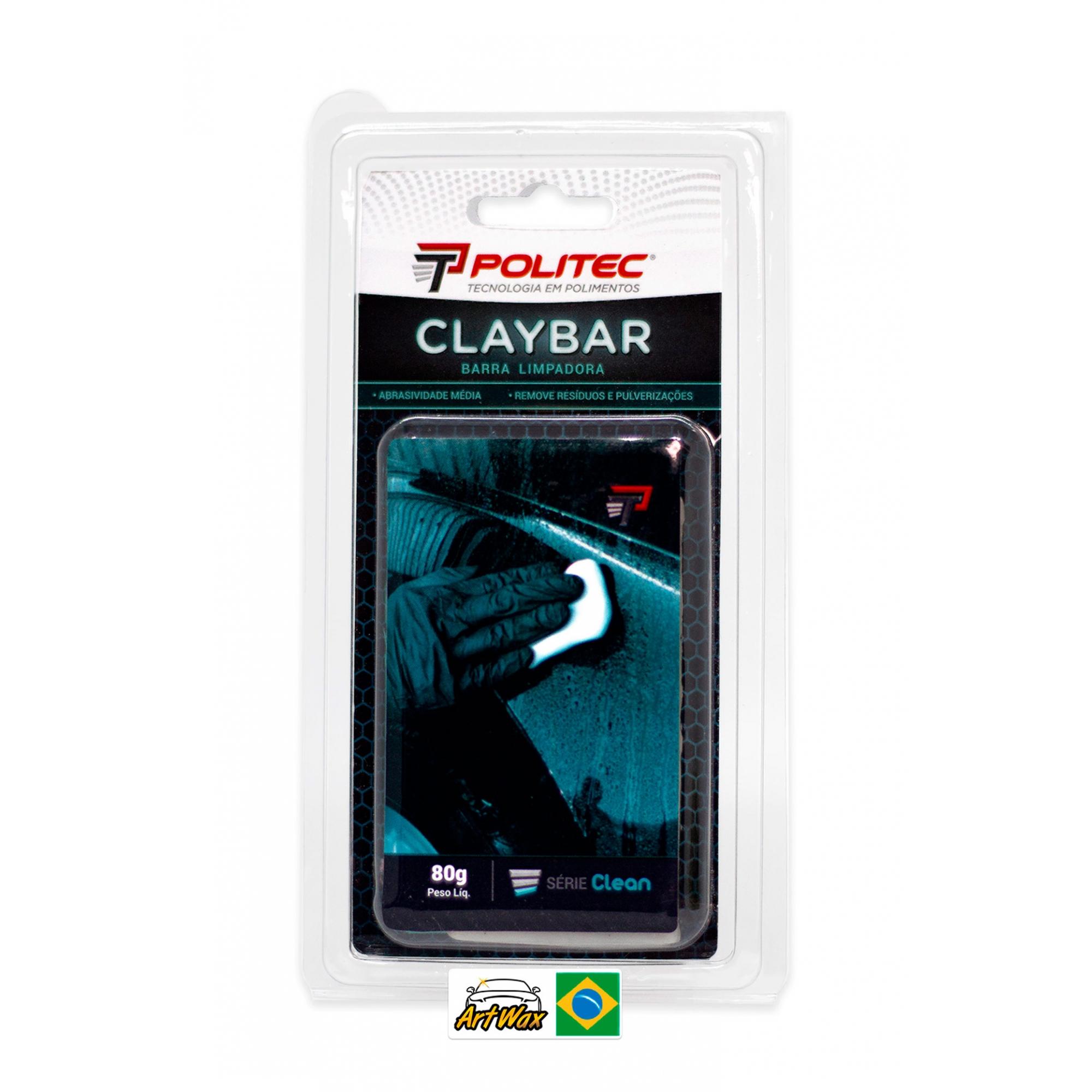 Claybar 80gr - Barra Descontaminante de Pintura Politec