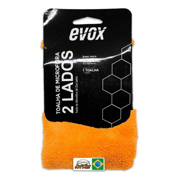 Evox Toalha de Microfibra 2 Lados - Dupla Face 40x40cm 600gsm