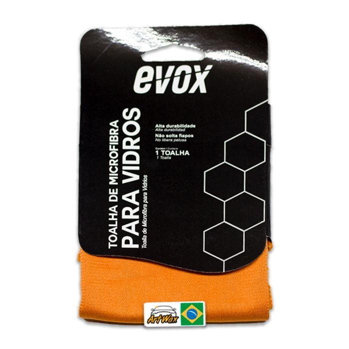 Evox Toalha de Microfibra Limpeza de Vidros 40x40cm 260gsm