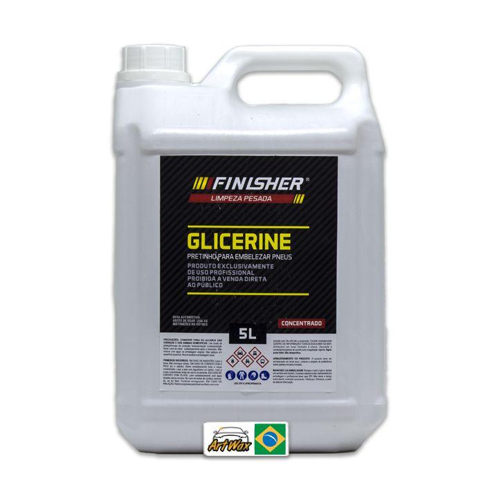 Finisher Glicerine Pretinho Para Pneu 5l