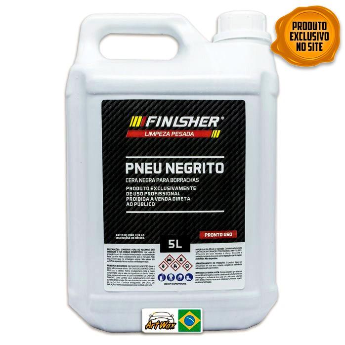 Finisher Pneu Negrito Cera Negra Para Borrachas 5L