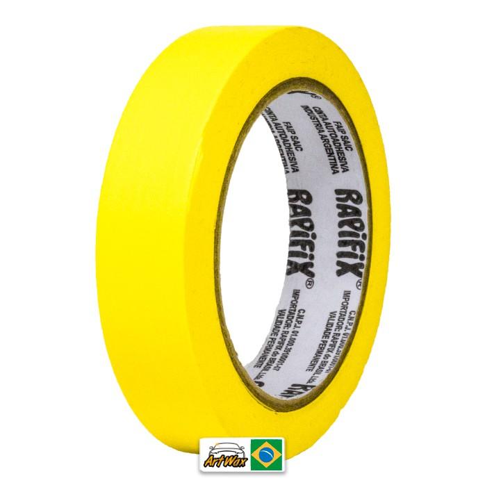 Fita Crepe Amarela Alta Performance 24mmx40m Rapifix